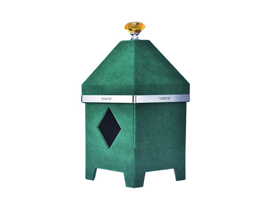 House Shape Green Candle Box