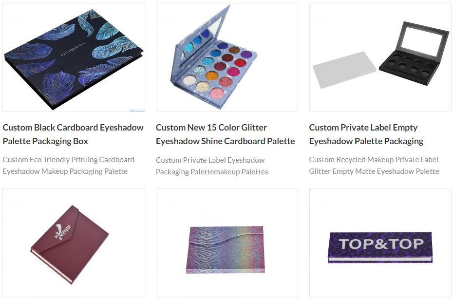 cardboard eyeshadow palette packaging