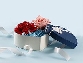 Unique Gift Package Box with Ribbon