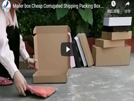 Recycled Corrugated Paper Cardboard Shipping Box